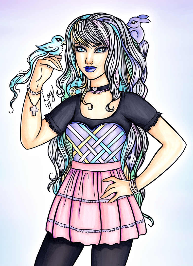 Lady LovelyLocks as a Pastel Goth