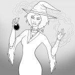 Witch - Inktober 2017