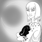Lunar Witch - Inktober 2017