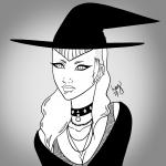 Punk Goth Witch - Inktober 2017