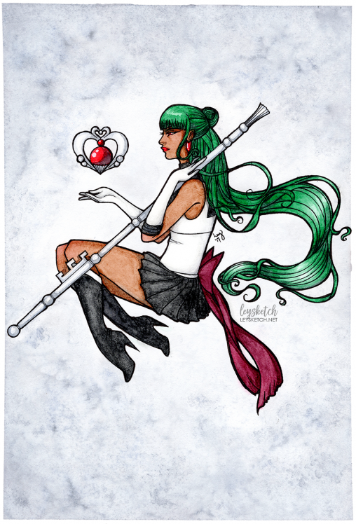 Sailor Pluto - Watercolour Painting