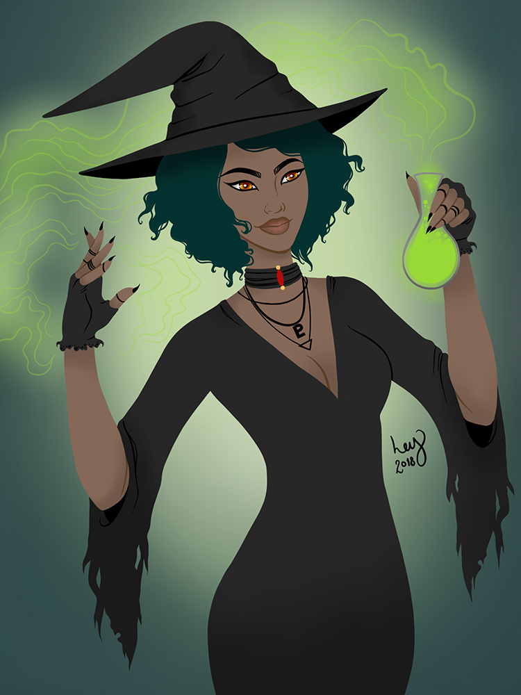 Neon Witch - Digital Illustration